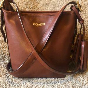 COACH🌺Legacy Whiskey mini duffle CrossBody Bag